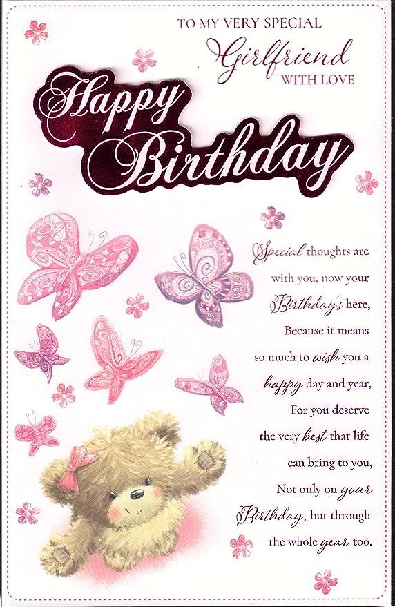 Novia tarjeta de cumpleaños - para mi novia muy especial ...