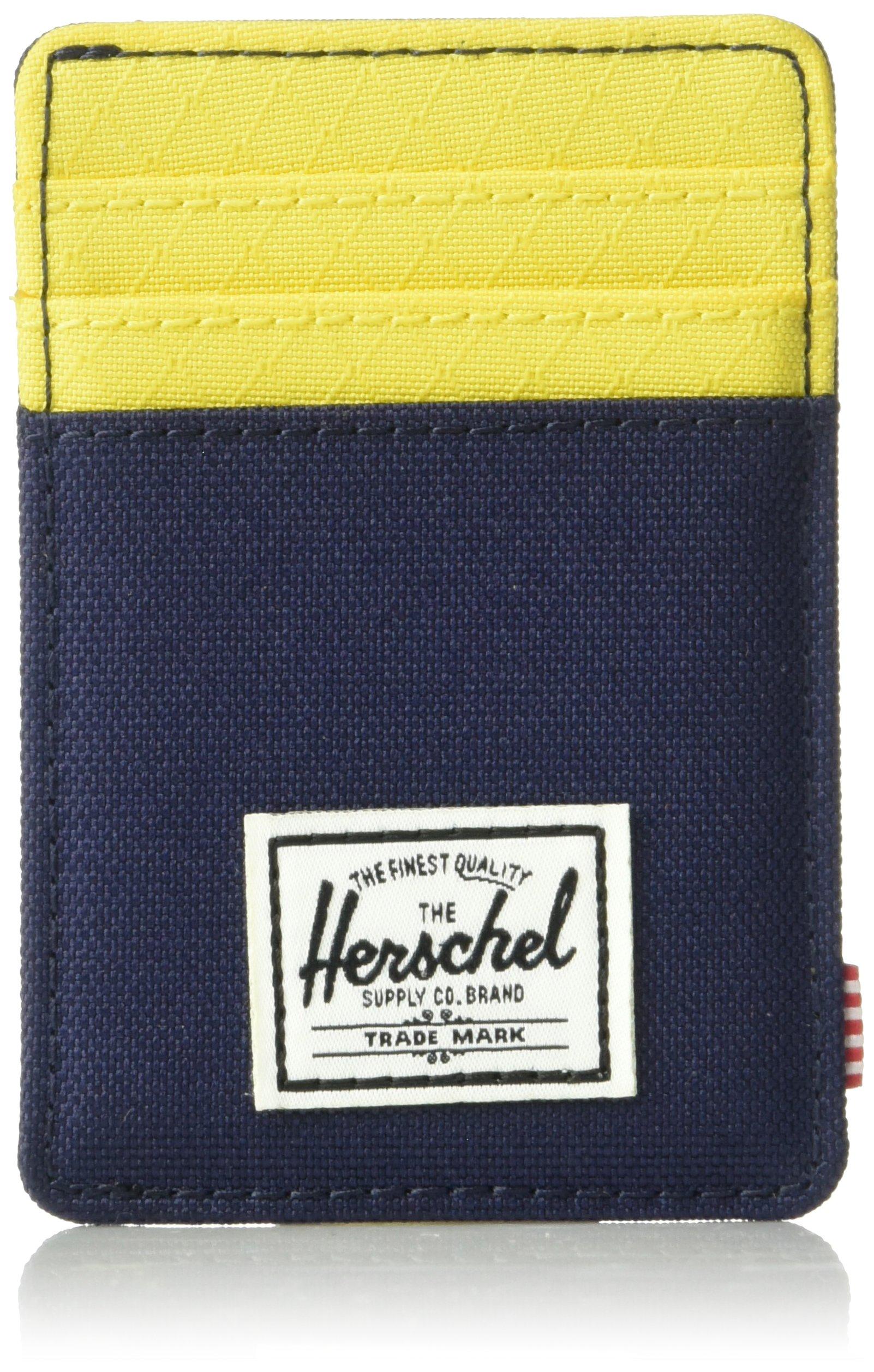 Herschel Supply Co. Men's Raven Rfid Wallet, Peacoat/Cyber Yellow, One Size