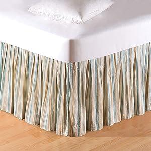 C&F Home Natural Shells Queen Bed Skirt Queen Bed Skirt Blue
