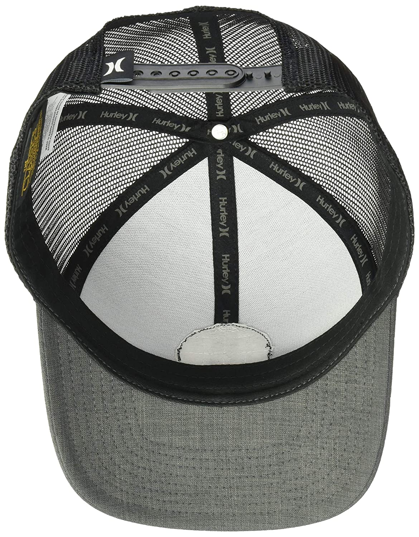 145bd0c5e75 Amazon.com  Hurley Men s Black Textures Patch Trucker Baseball Cap ...