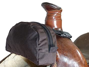 ebda75a1ad5 Thor Equine Back Roll oilskin Sillín Alforja Western marrón