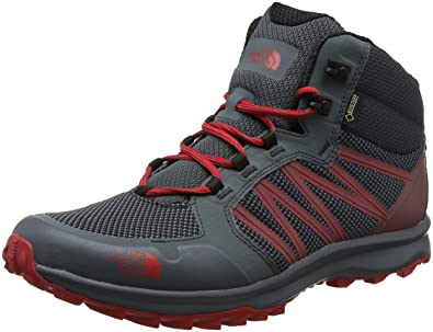 Marques Chaussure homme The North Face homme Litewave Fastpack Mid GTX M Turbulence Grey/TNF Red