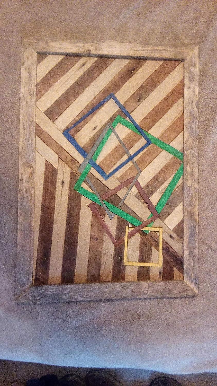 Amazon Com Geometric Wood Wall Art Handmade