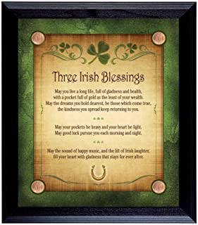 product image for Three Irish Blessings with 4 Lucky Irish Pennies Wall Frame
