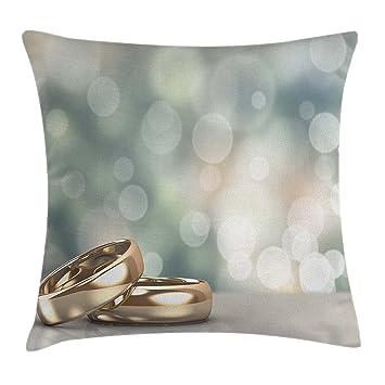 Amazon.com: Ambesonne - Funda de cojín para boda, diseño de ...