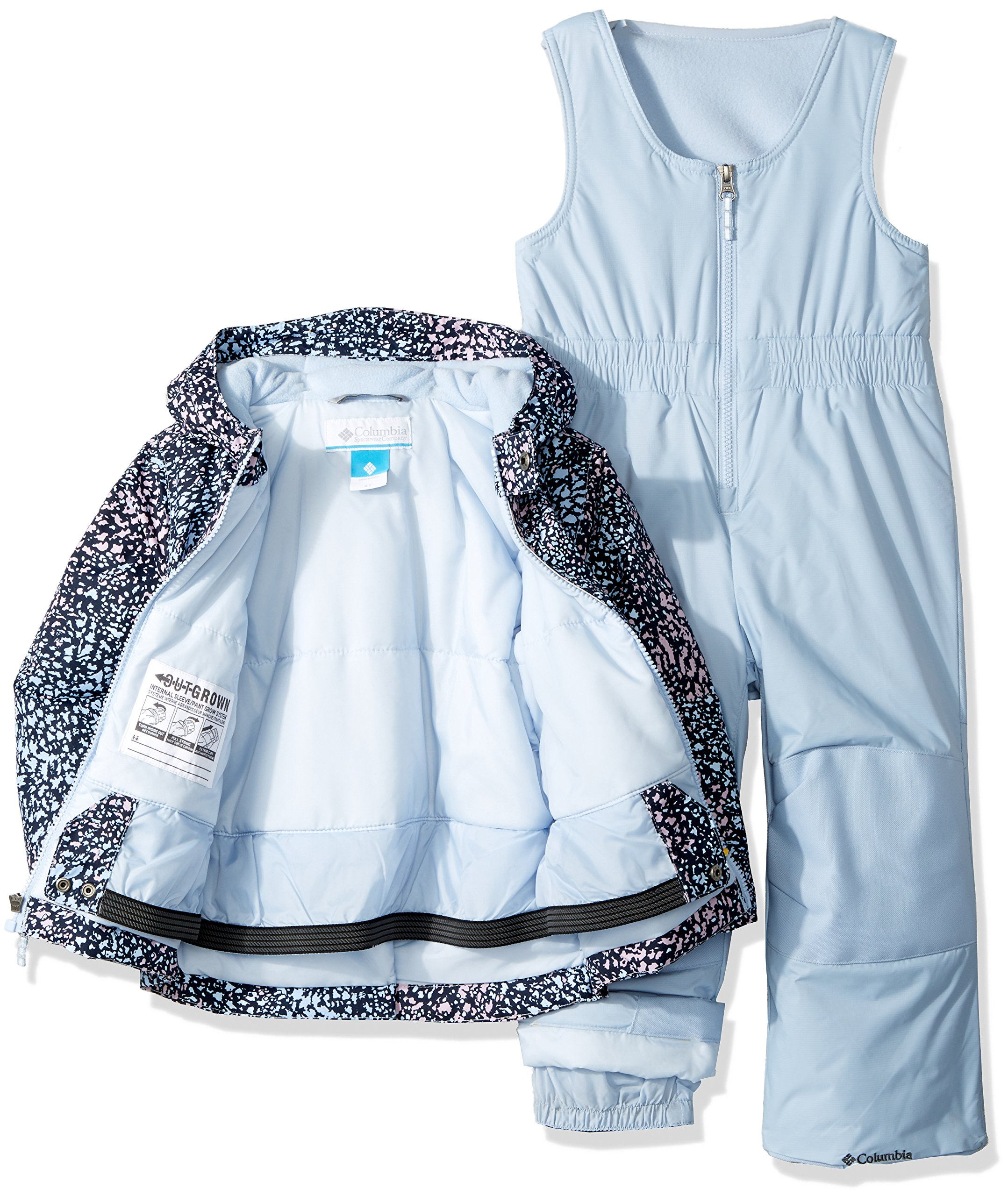 872d9a1c8 Columbia Girls' Toddler Frosty Slope Set, Faded Sky Snow Splatter, 4T -  1624591-467-Fdd Sky Snw Spltr-4T < Snow Wear < Clothing, Shoes & Jewelry -  tibs
