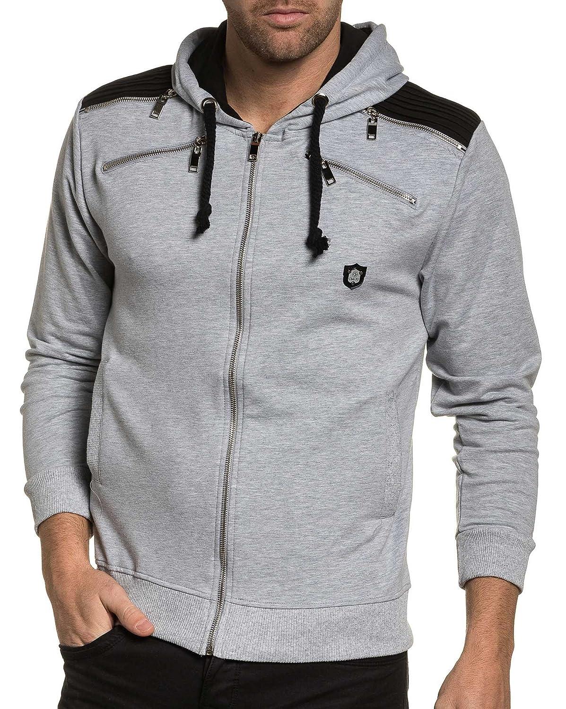 BLZ jeans - Vest man zipped stylish gray fleece