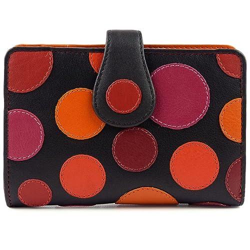 Visconti Ladies Leather Lunares Monedero tipo cartera by ...