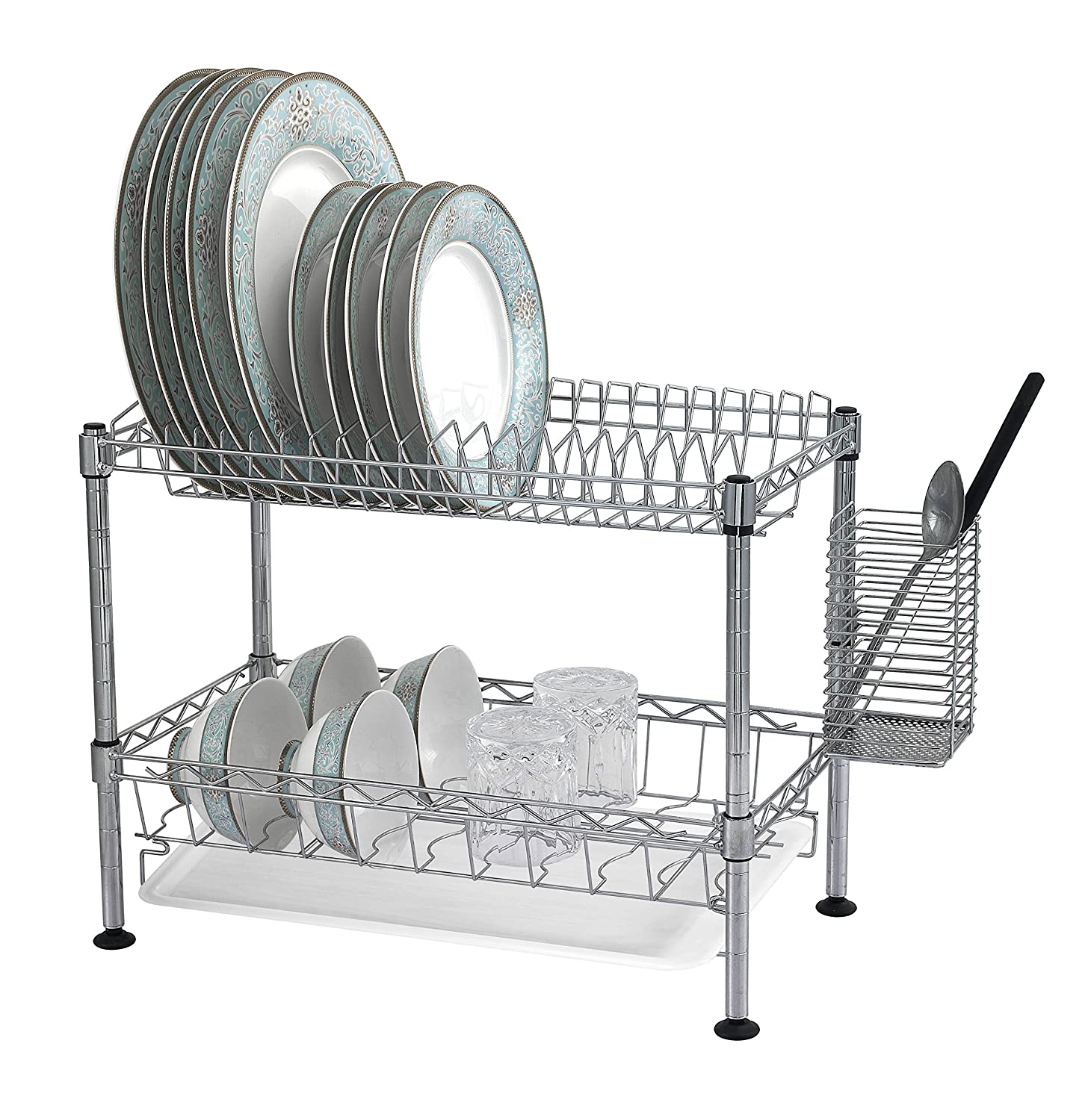 Sandusky Lee WDR101812 Two Tier Wire Dish Rack, Chrome