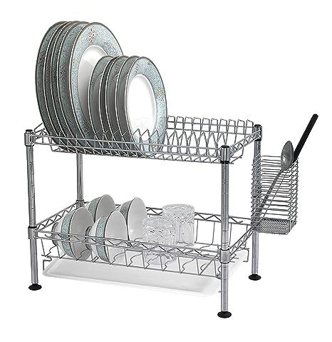 Amazon.com: Sandusky Lee wdr101812 Dos Tier Dish Rack de ...