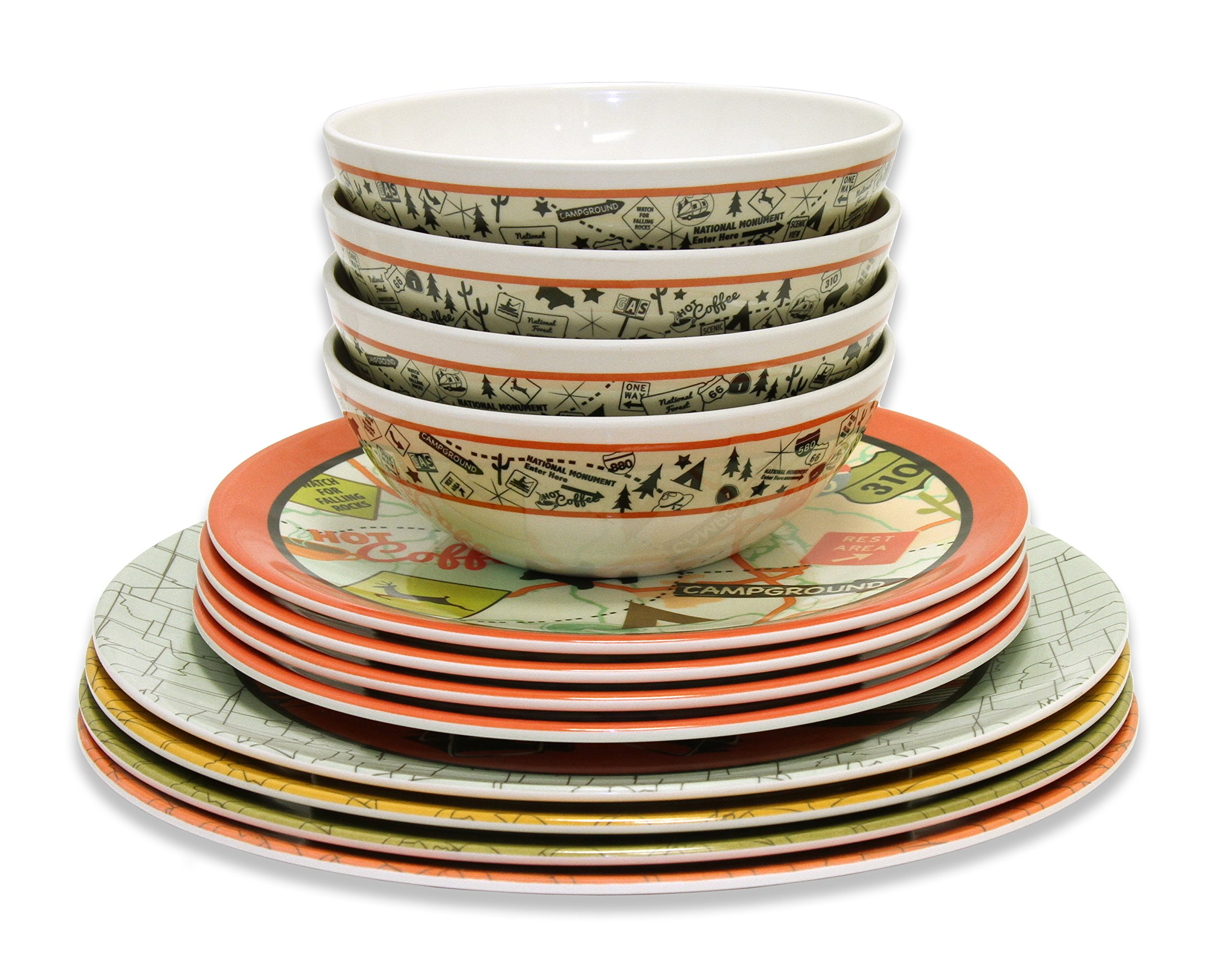 Camp Casual CC-001 12-Piece Dish Set by Camp Casual (Image #5)