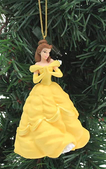 disney beauty and the beast belle princess holiday ornament limited