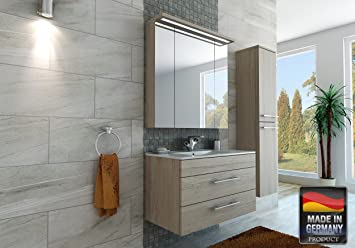 Mispa C Badezimmer Badmobel Komplett Set Ohne Hochschrank 2 Teilig