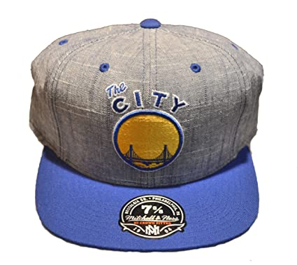 6149160aba221 Mitchell   Ness Golden State Warriors Slub Linen Hi Crown Fitted Cap - NBA  SF City