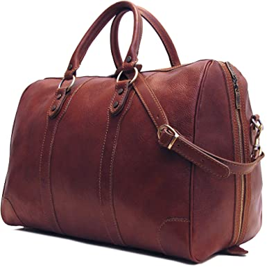 Floto Collection Sport Duffle in Vecchio Brown Italian Calfskin Leather I7aYg