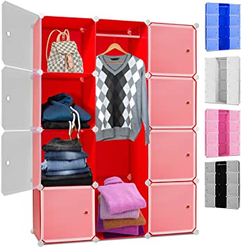 Kleiderschrank Modern DIY Schrank Regalsystem Steckregal Garderobe Schuhregal