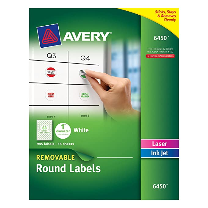 Amazon avery removable round labels 1 inch diameter white amazon avery removable round labels 1 inch diameter white pack of 945 6450 office products pronofoot35fo Gallery