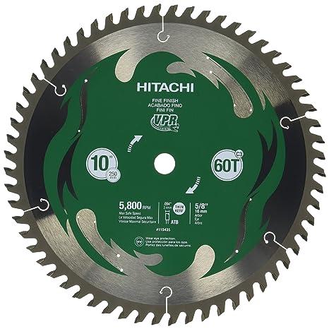 Hitachi 115435 10 60t fine finish vpr miter saw blade amazon hitachi 115435 10 60t fine finish vpr miter saw blade greentooth Choice Image