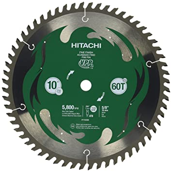 Hitachi 115435 10 60t fine finish vpr miter saw blade amazon hitachi 115435 10 60t fine finish vpr miter saw blade greentooth Images