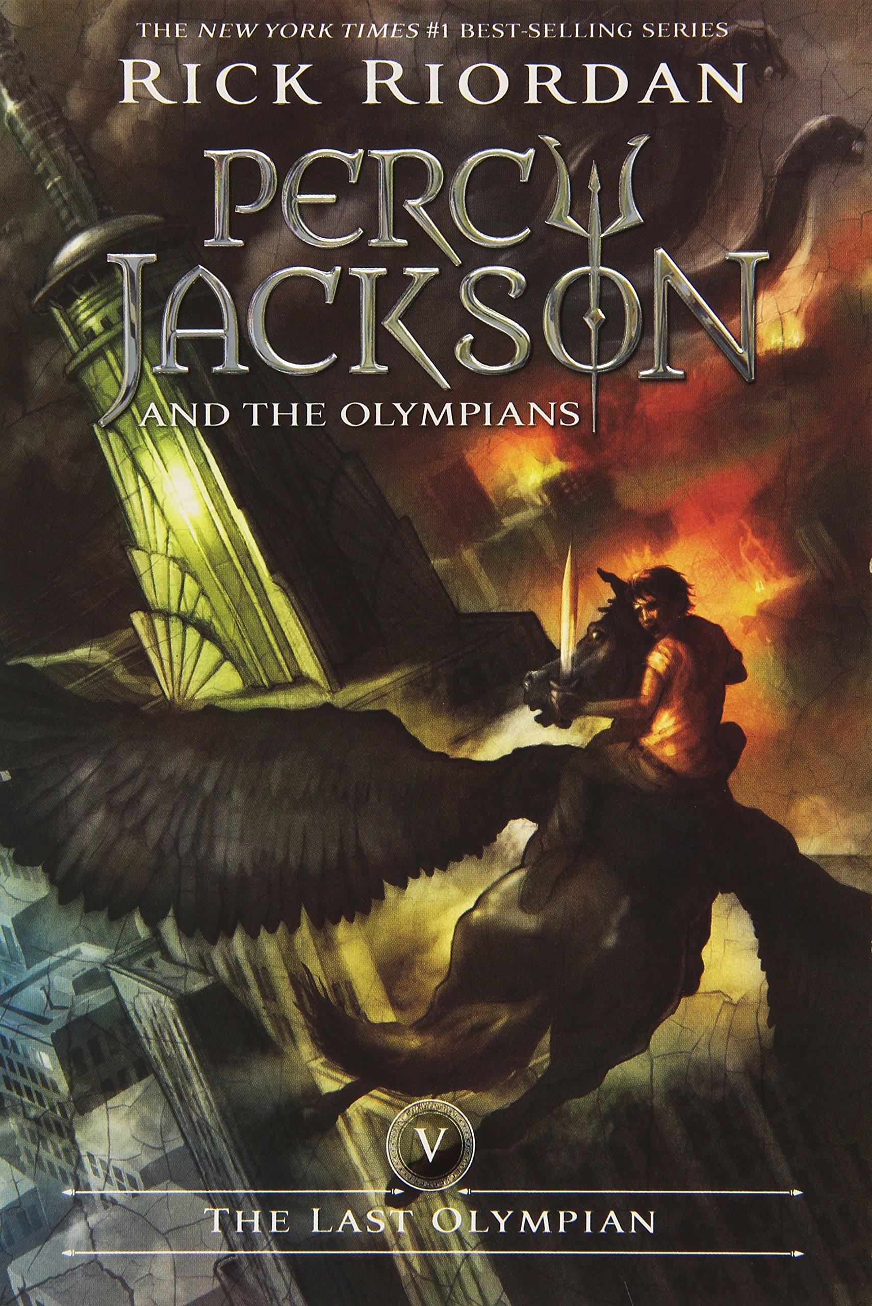 com the last olympian percy jackson and the olympians  com the last olympian percy jackson and the olympians book 5 9781423101505 rick riordan books