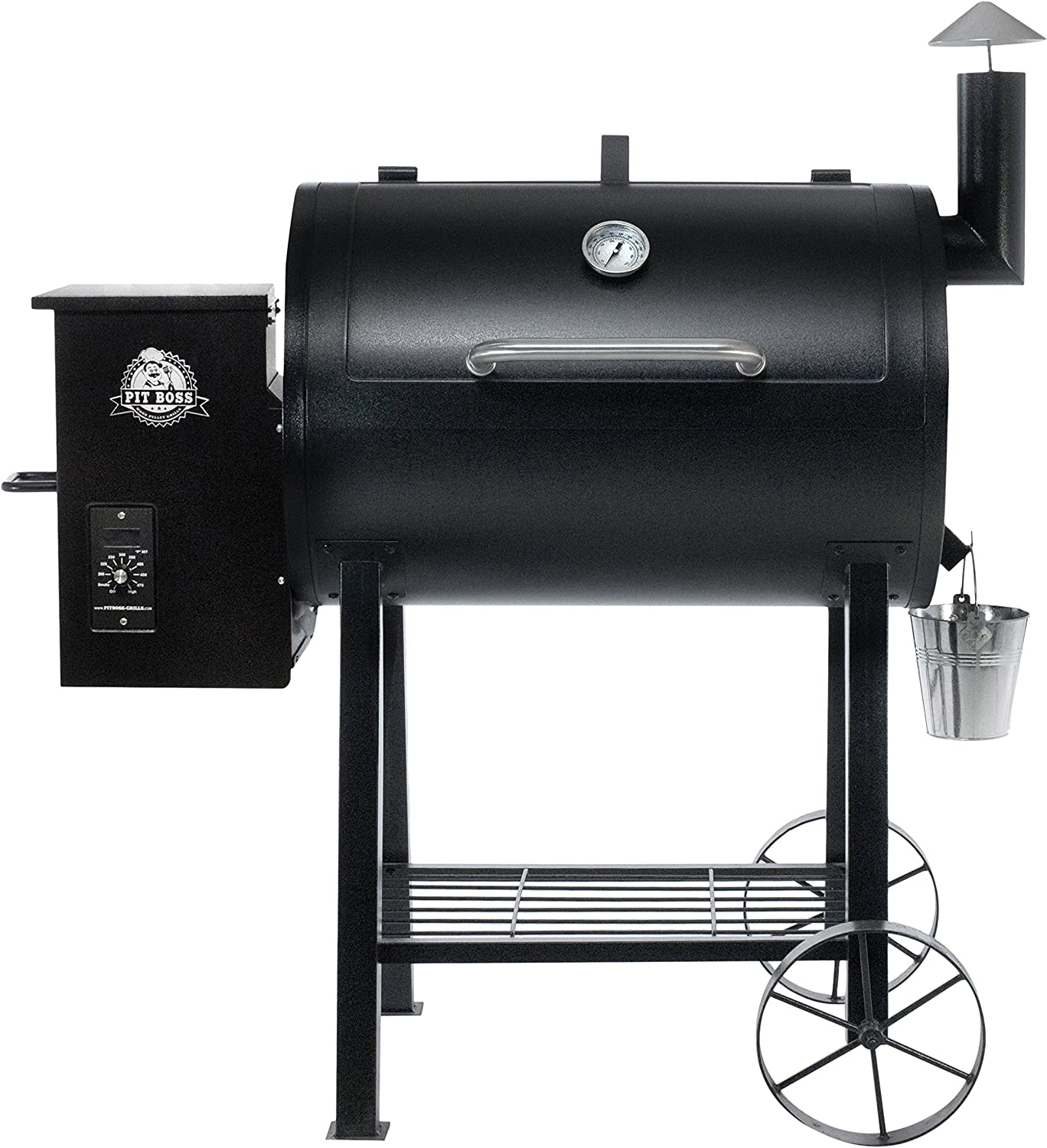 Pit Boss Pb820fb Wood Fired Pellet Grill W Flame Broiler Bbq Black 122x68x127 75 Cm Amazon Co Uk Garden Outdoors