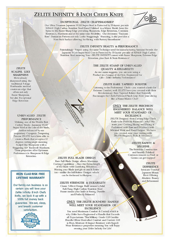 zelite infinity chef knife 8 inch alpha royal series best zelite infinity chef knife 8 inch alpha royal series best quality japanese vg10 super steel 67 layer damascus razor sharp superb edge retention