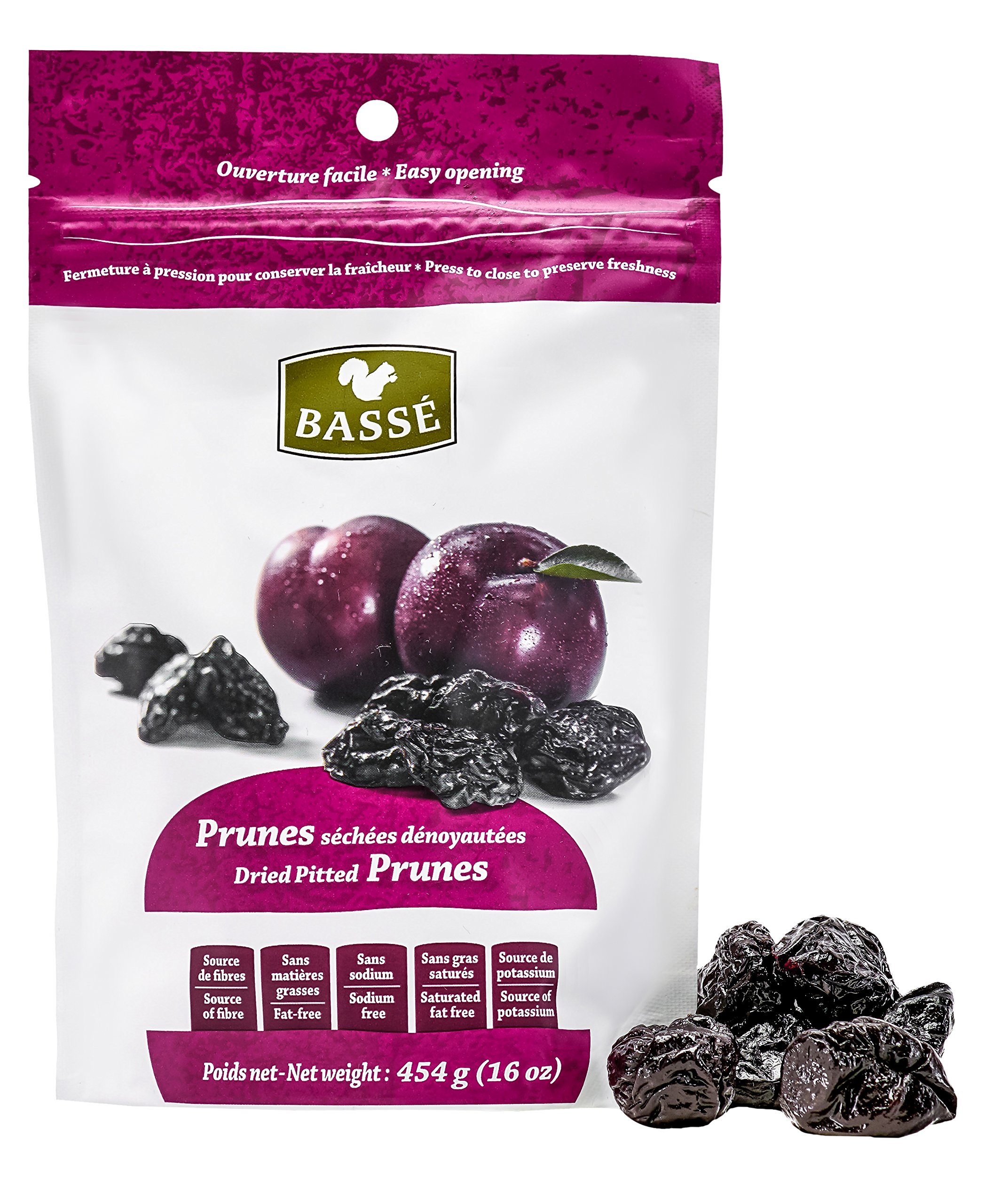 12lbs Prunes, Dried Pitted Prunes from Basse Dried Fruits - 12 1 Pound Bags of Dried Prunes, Best Foods For Weight Loss, Delicious Sweet Prunes full of Nutrition and Health Benefits (12 Pounds Total) by Basse Nuts