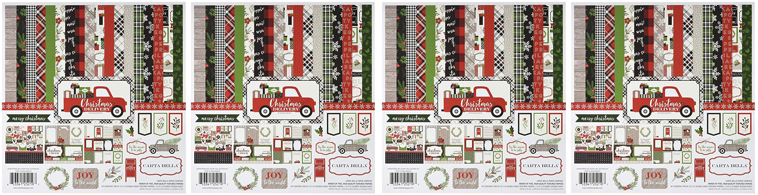 Carta Bella Paper Company CBCD58016 Christmas Delivery Collection Kit (Fоur Paсk)