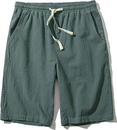 Pre-owned Clothing,Knee Length,Cotton,Drawstring Men/'s Shorts,Elastic Waist LARGE