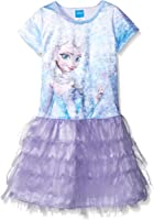 Disney Little Girls' Sparkling Elsa Dress