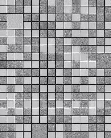 Küchen Bad Tapete EDEM 1033 16 Vinyltapete Geprägt Mit Geometrischen Formen  Und Metallischen Akzenten Silber