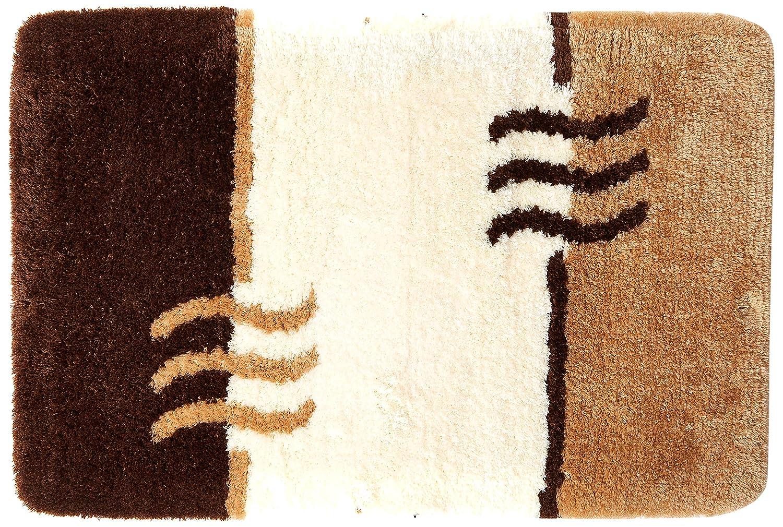 Kleine Wolke 4594231225/Fiesta Badteppich Polyacryl beige 50 x 65 cm beige