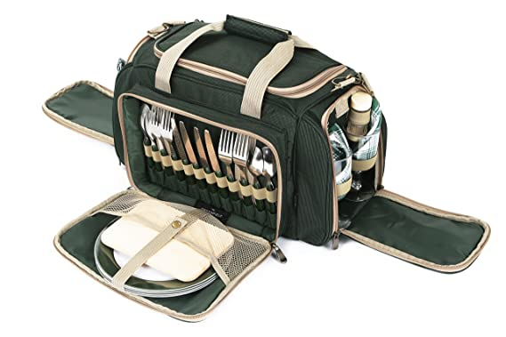Greenfield Collection Bolsa térmica Deluxe para Cuatro Personas Verde Bosque BPH4DGH-Bolsa, Color, 29x45x23 cm: Amazon.es: Jardín
