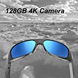 OHO 4K Ultra HD Water Resistance Video Sunglasses, Sports Action Camera with Built-in 128GB Memory and Polarized UV400…