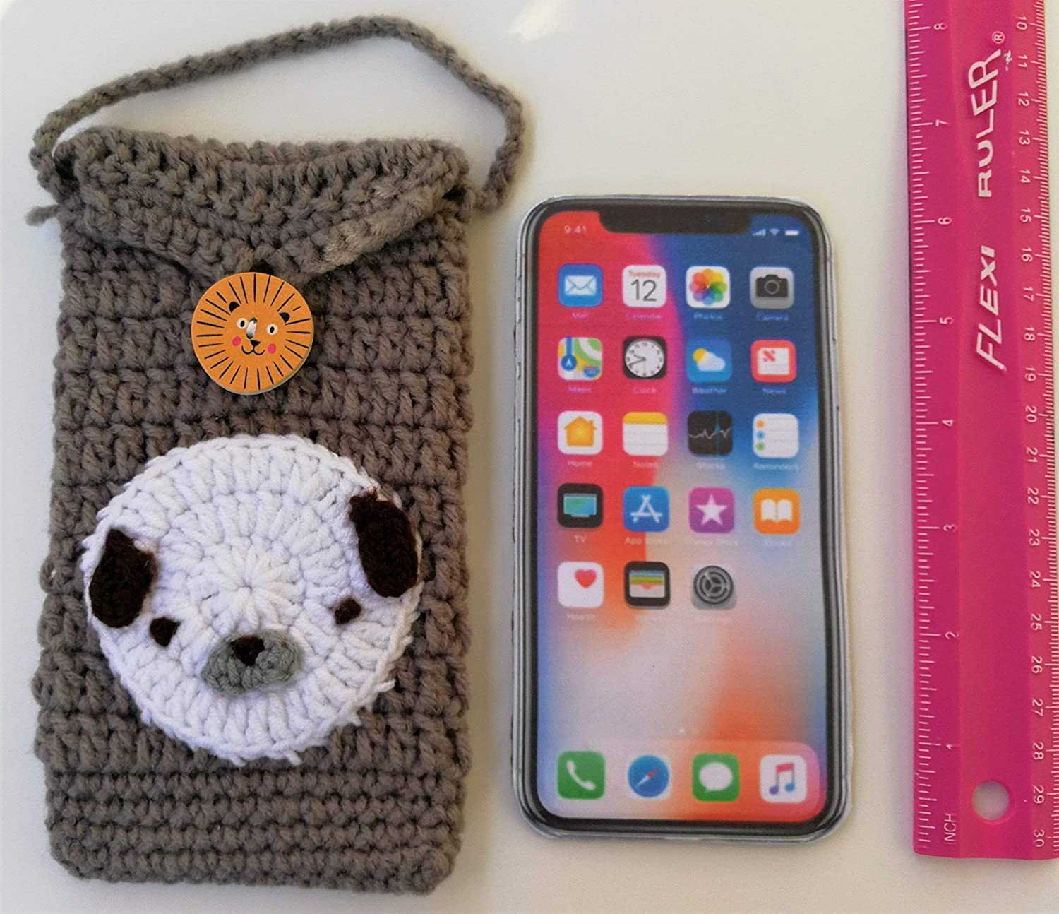 Amazoncom Cute Crocheted Cell Phone Case Iphoneandroid Phone Bag