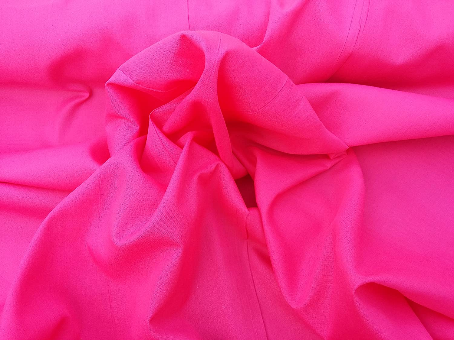 Prestige Fashion Polycotton Fabric Material All Plain Colours - By The Metre 115cm wide (45) (Cerise/Hot Pink) by Prestige Fashion UK Ltd
