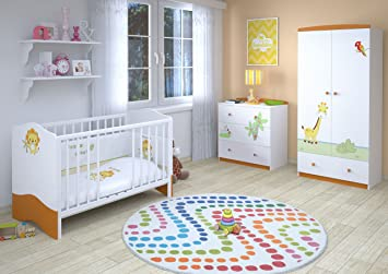 Polini Kids Kinderzimmer Set L Basic Modell Jungle, 23837: Amazon.de ...