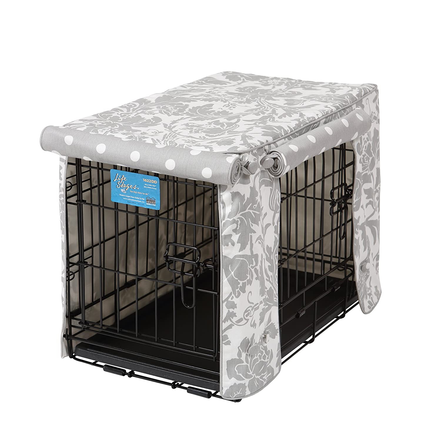 Crate Covers and More Double Door 24 Pet Crate Cover BLKPAR24