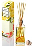 Urban Naturals Citrus Bliss Mandarin Orange & Grapefruit Scented Oil Reed Diffuser Natural Essential Oil Aromatherapy Gift Set w/Real Orange!   Fresh Fragrance