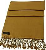 CJ Apparel Camel Brown Solid Colour Design Shawl