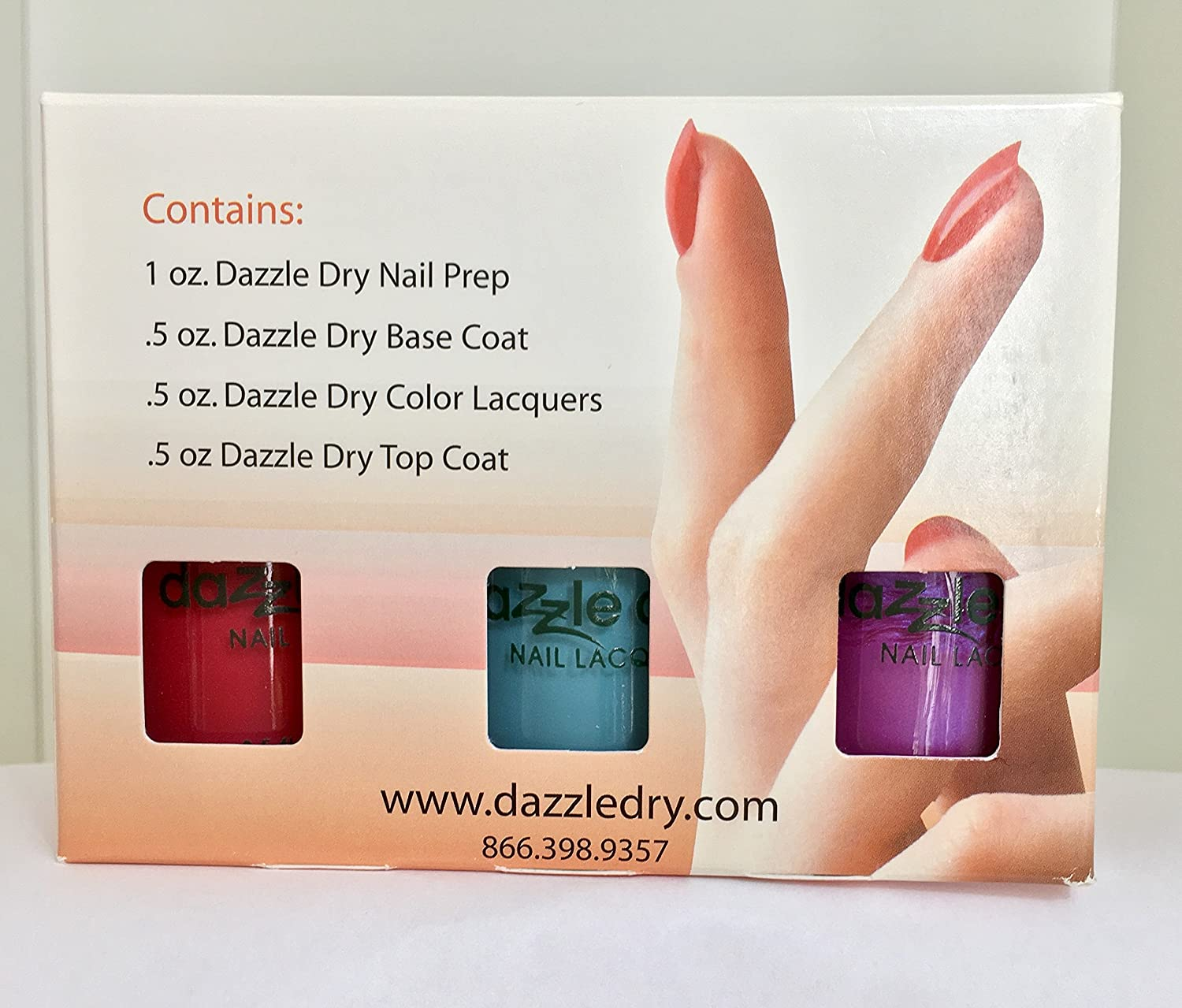 Amazon.com : Dazzle DryTM Nail Polish System Kit 6 pc : Dazzle Dry ...