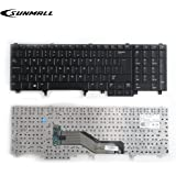SUNMALL Replacement Keyboard Compatible with Dell Latitude E5520 E5520m E5530 E6520 E6530 E6540 Precision M4600 M4700 M6600 M6700 Laptop US Layout(6 Months Warranty)