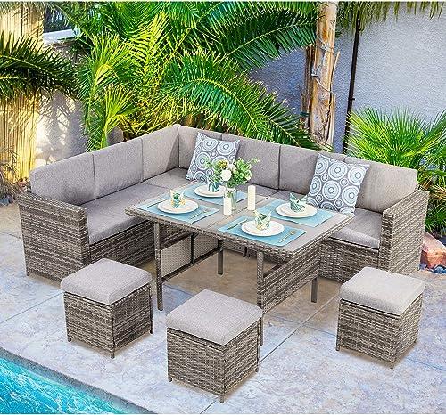 Vongrasig 7 PCS Patio Furniture Set