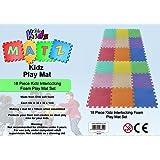 Edz Kidz Interlocking Foam Play Mat Set (18 Piece Pastel)