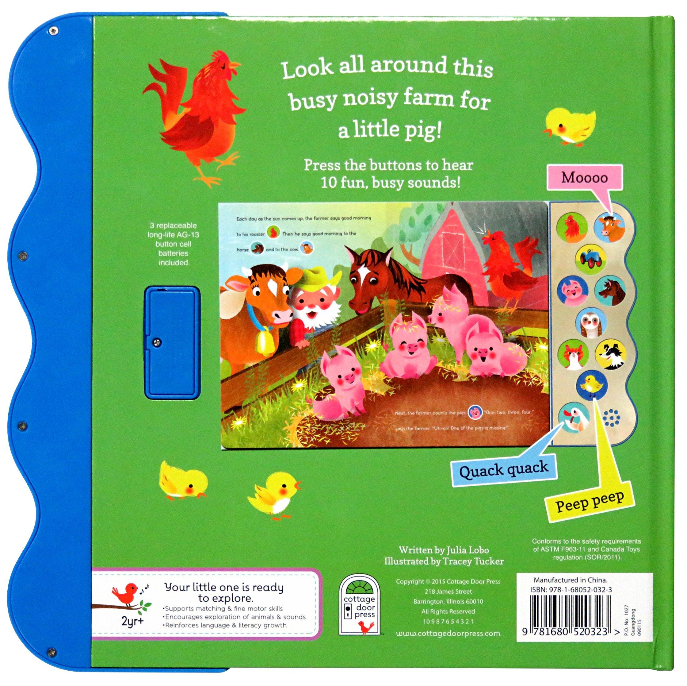 Busy Noisy Farm: Interactive Children's Sound Book (10 Button Sound)