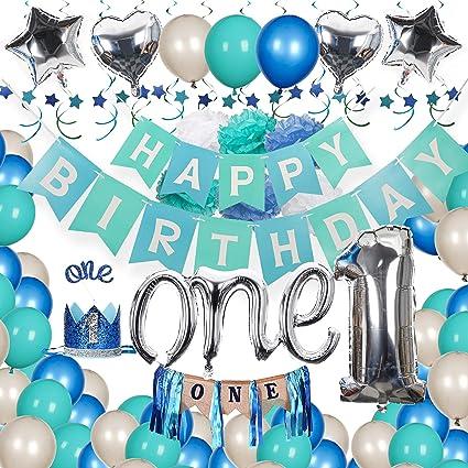 Amazon.com: Kit de decoración de primer cumpleaños para bebé ...