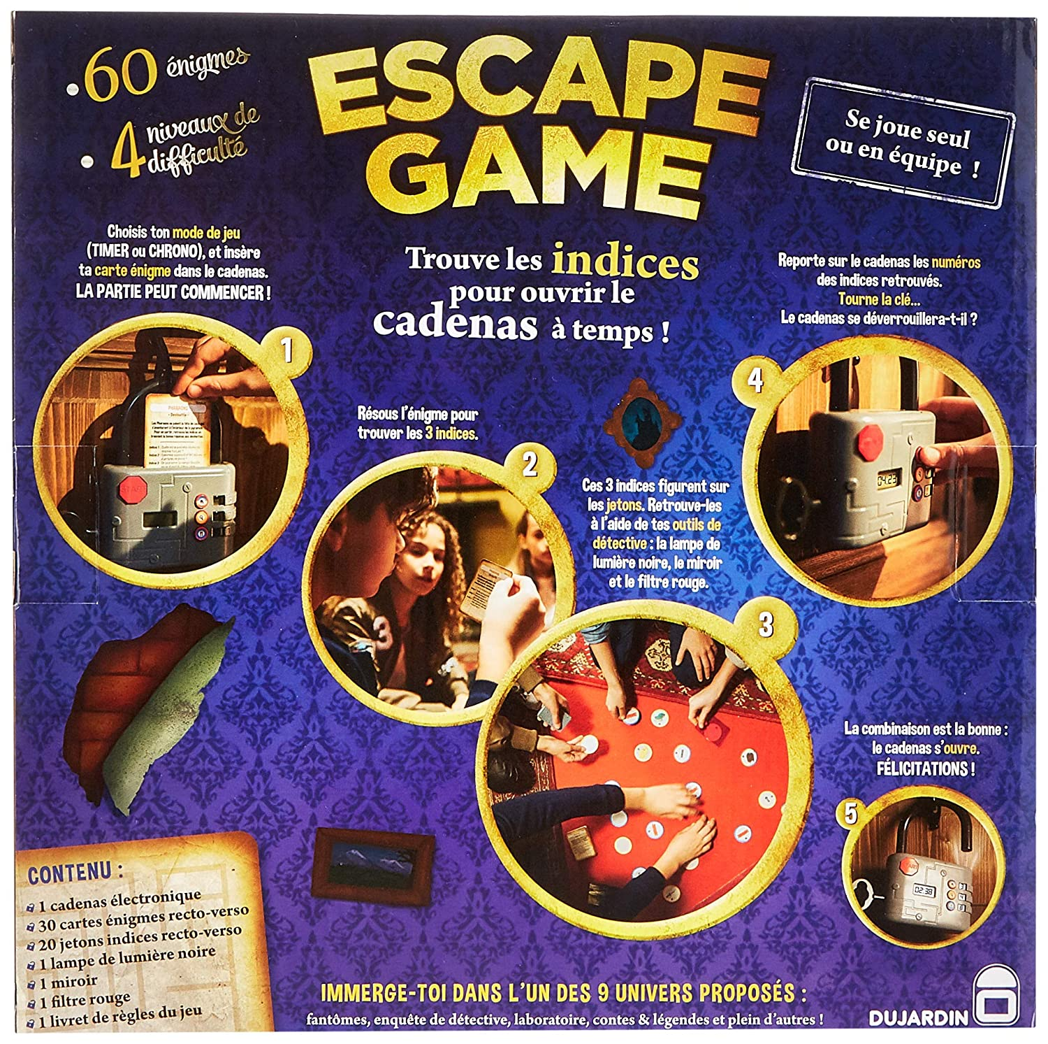 Dujardin Lot Jeux Escape Game Le Cadenas Electronique Duracell Ultra Power Piles Alcalines Type Aaa 8 Piles