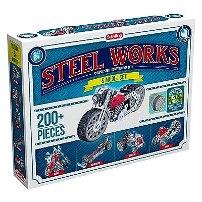 Schylling Steel Works 5 Model Construction Building Kit: Toys & Games [5Bkhe1803500]