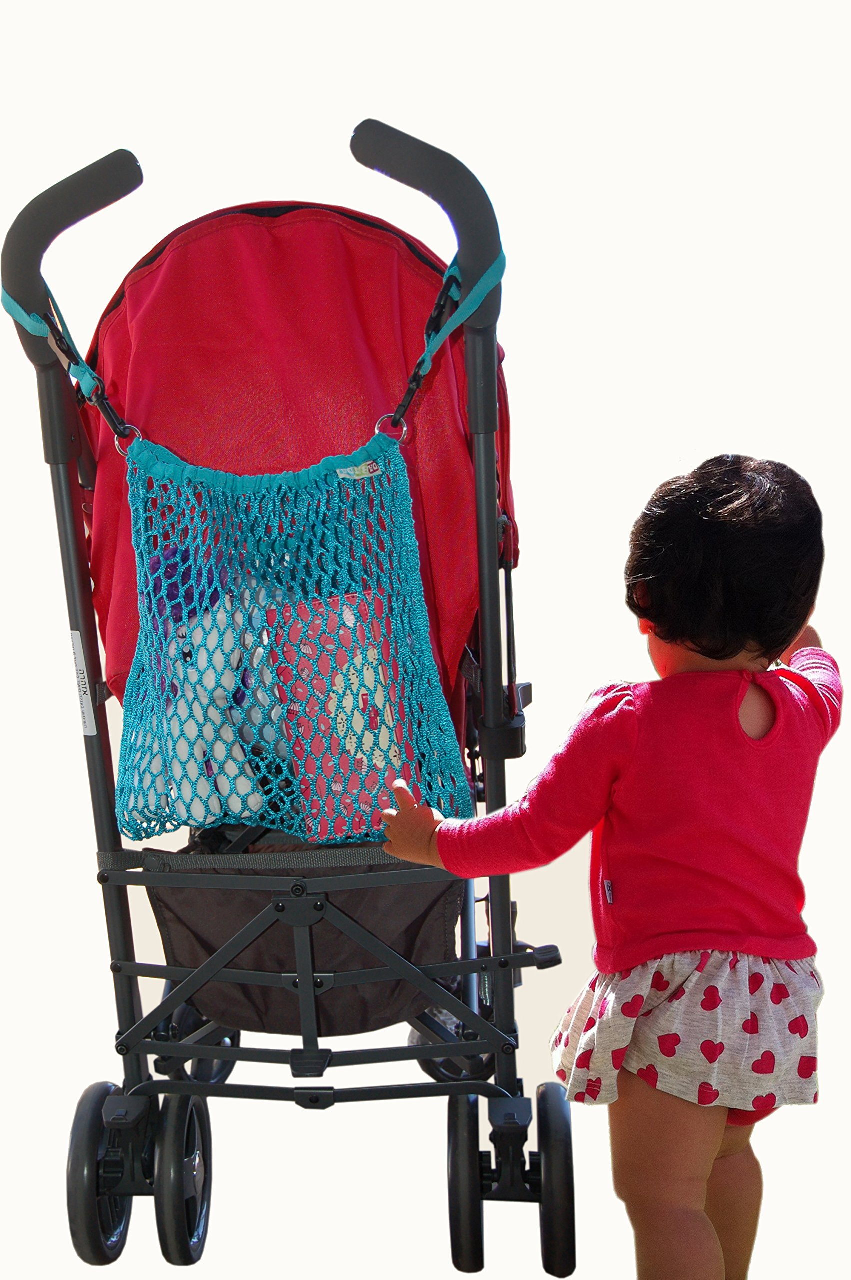 Stroller mesh bag, net storage bag, lightweight Baby Bag Organizer. great way to carry all your on-the-go baby essentials. Easily attaches to the back of any stroller by DABADA (Image #1)