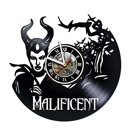 91f36391 MALIFICENT - Angelina Jolie - Vinyl Wall Clock – Walt Disney Clock  Maleficent The Evil Queen
